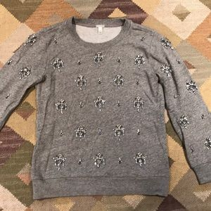 Embellished jcrew XS sweater